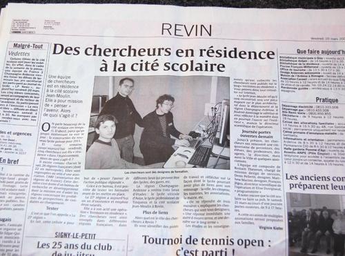 article dans l'Ardennais