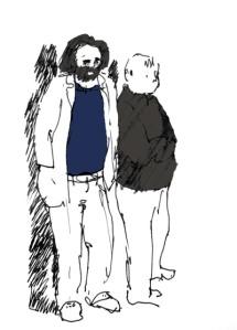 Tanguy Vermey et Duncan Lewis au lycée de Revin