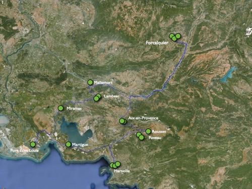 Carte des entretiens par les résidents / Felix Compère et Alexandre Mussche