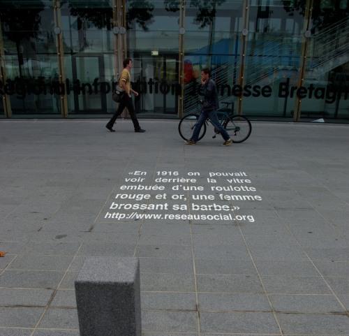 un bout de mon souvenir s'invite dans la rue et le reste sur la toile