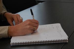 Entretien avec Sylvie Depraetere / Prise de note en schéma