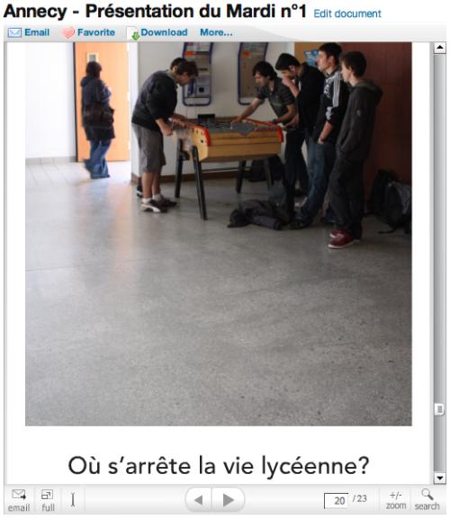 Presentation premieres questions lycée Annecy
