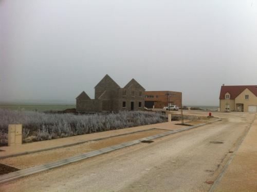 Parcelles de lotissements actuellement en construction en périphérie de Rouvres-en-plaines