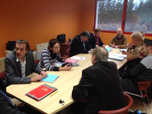 réunion de travail sur le projet d'extension de la ZAC